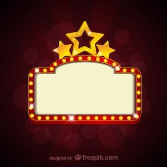 Cartel en blanco de película de cine