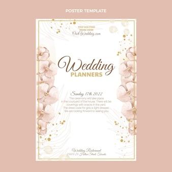 Cartel de boda boho acuarela