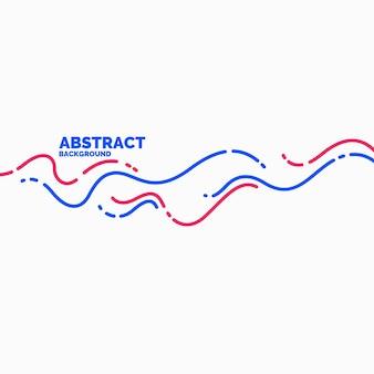 Cartel brillante con ilustración de vector de ondas dinámicas