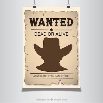 Cartel se busca en estilo western