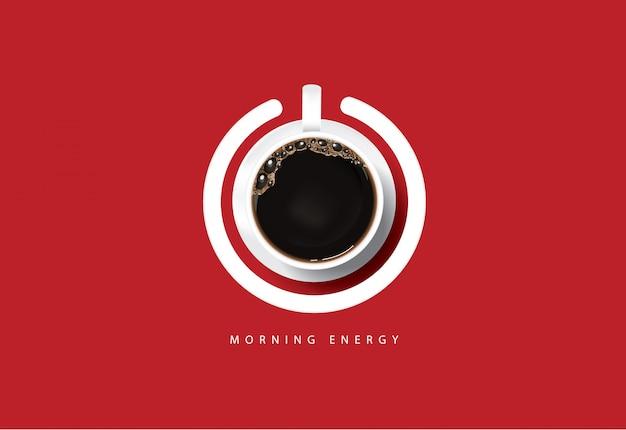 Cartel de café anuncio flayers ilustración vectorial