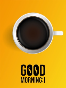 Cartel de café de la mañana