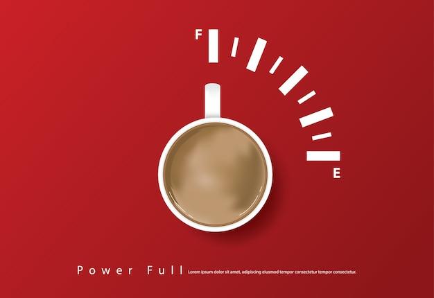 Cartel de café con publicidad y volantes ilustración vectorial