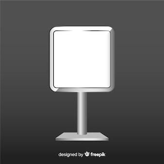 Cartel caja de luz realista