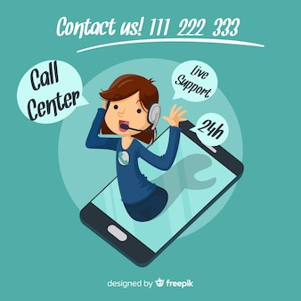 Cartel de call center