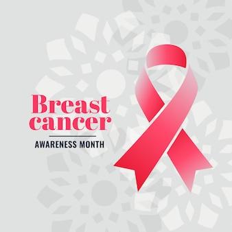 Cartel de la campaña del mes de concientización sobre el cáncer de mama