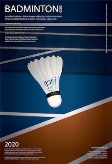 Cartel del campeonato de bádminton