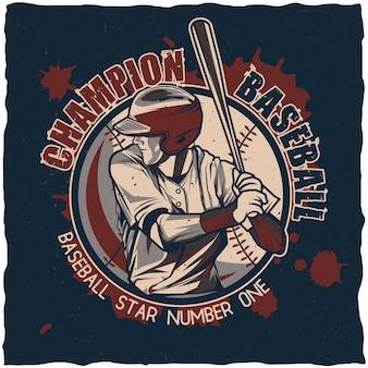 Cartel del campeonato de béisbol