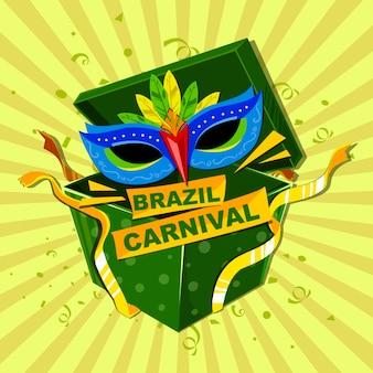 Cartel de carnaval brasileño