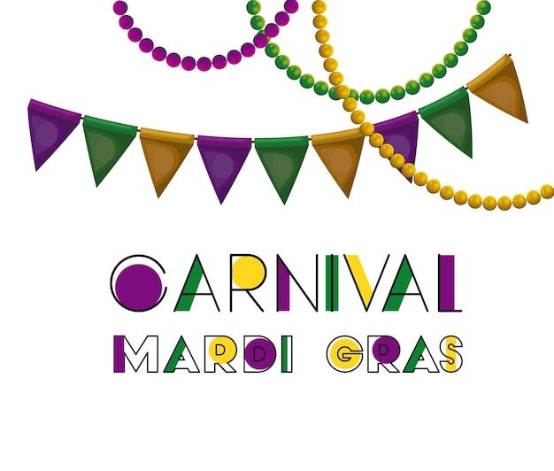 Cartel de carnaval mardi gras