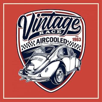 Cartel de carrera vintage