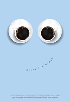 Cartel cartel café flayers ilustración