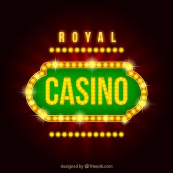Cartel de casino lujoso