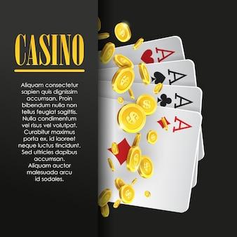 Cartel de casino o banner de fondo o plantilla de volante.