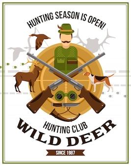 Cartel de caza de tiro