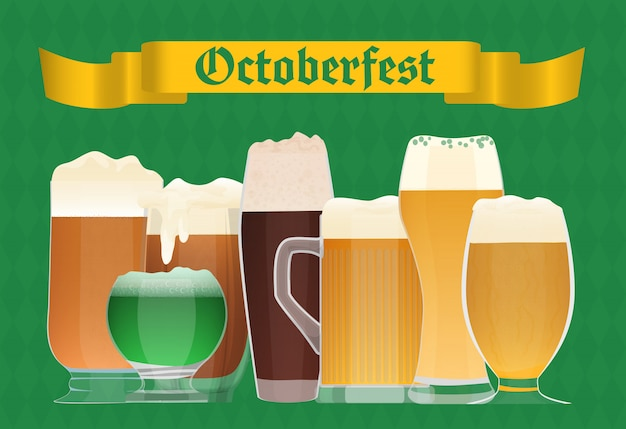 Cartel de celebración de la cerveza oktoberfest