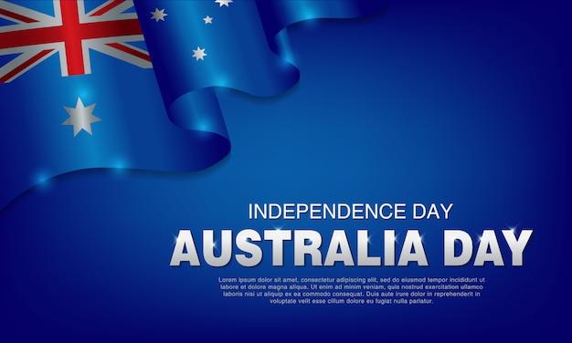Cartel de la celebración del día de australia