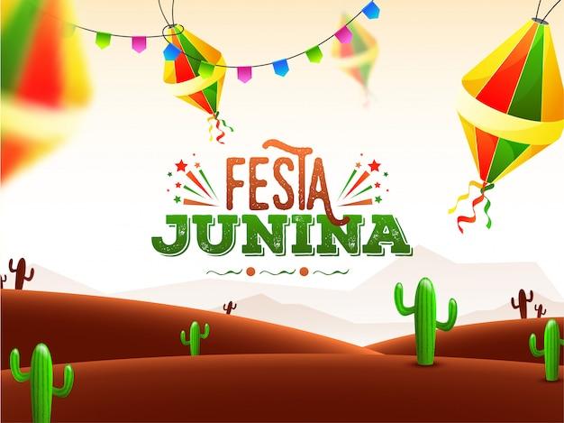 Cartel de celebración de la fiesta junina.