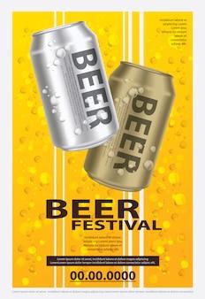 Cartel cerveza plantilla diseño ilustración vectorial
