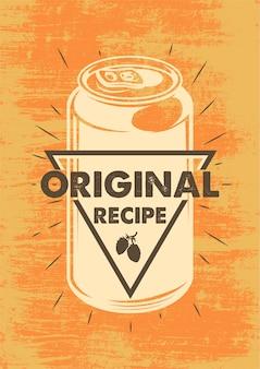 Cartel de cerveza vintage
