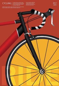 Cartel de ciclismo ilustración vectorial