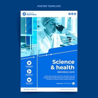 Cartel de ciencia plana
