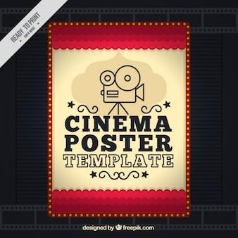 Cartel de cine en estilo vintage