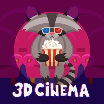 Cartel del cine del mapache