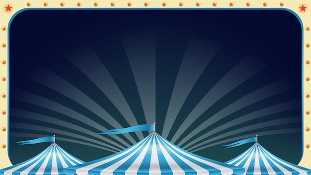 Cartel de circo en blanco.