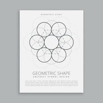 Cartel circular geométrico