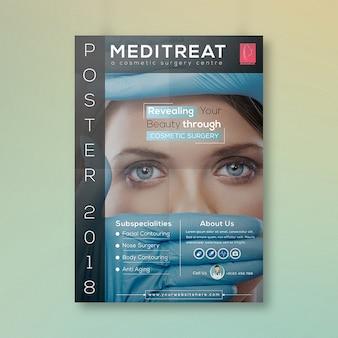 Cartel de cirugía plástica de atención médica