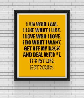 Cartel de citas de inspiración y motivación.
