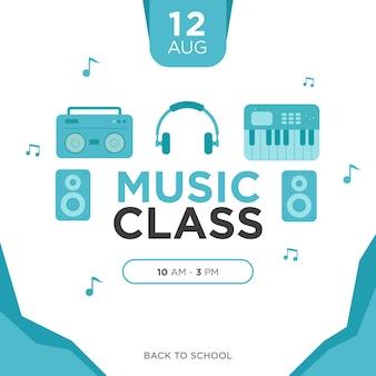 Cartel de la clase de música