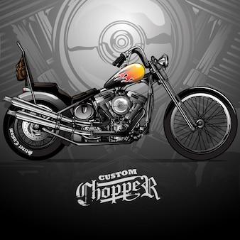 Cartel clásico de la motocicleta de chopper