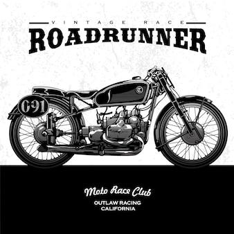 Cartel clásico de la motocicleta