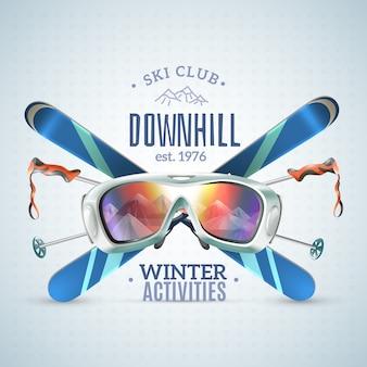 Cartel del club de esquí