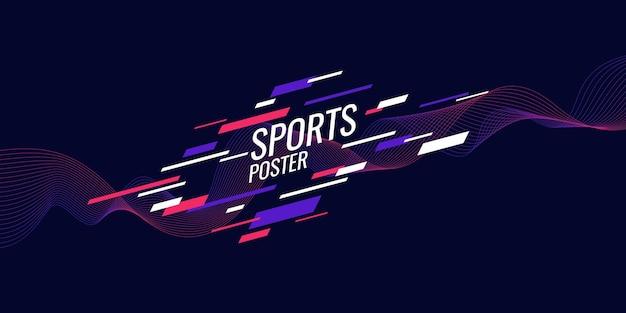 Cartel de color moderno para ilustración deportiva adecuado para diseño