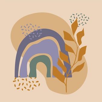 Cartel colorido abstracto del arco iris para la invitación de la ducha del bebé de la tarjeta de felicitación de la decoración del cuarto de niños