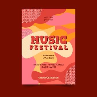 Cartel colorido abstracto de la música