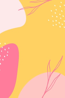 Cartel colorido del estilo de memphis