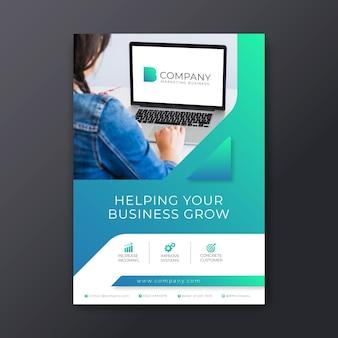 Cartel comercial de marketing