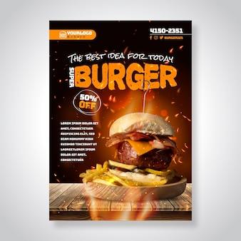 Cartel de comida americana