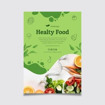 Cartel de comida bio y saludable.