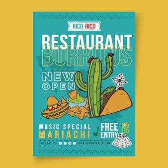Cartel de comida mexicana