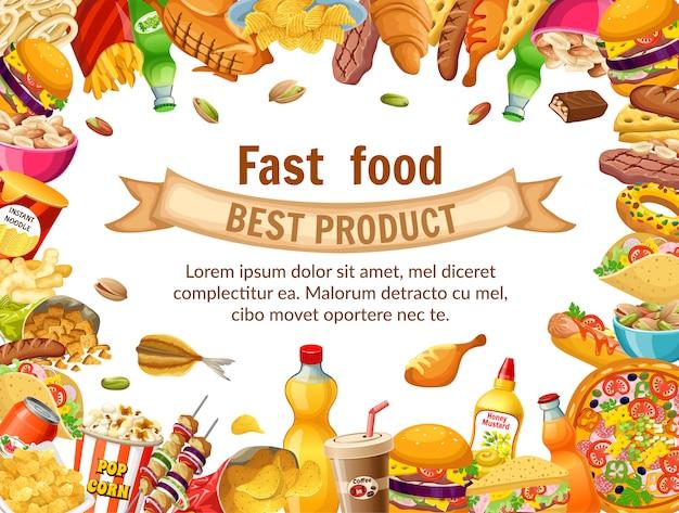 Cartel de comida rápida.