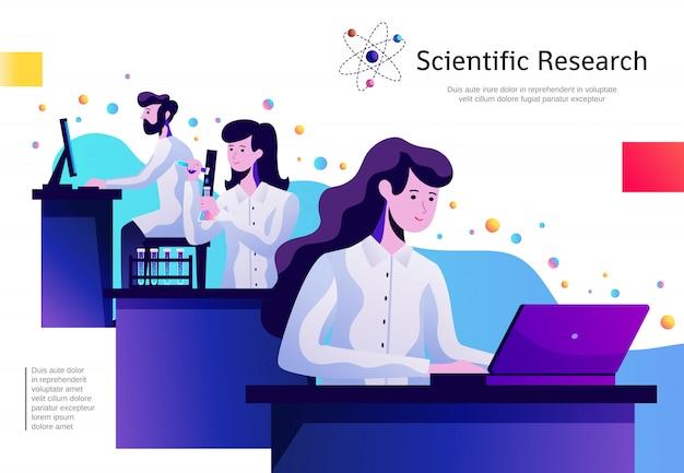 Cartel de composición abstracta de ciencia
