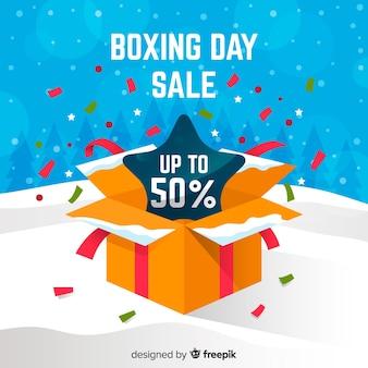 Cartel de compras de boxing day