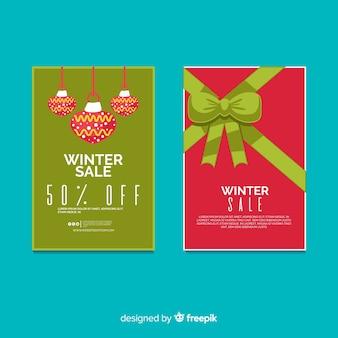 Cartel de compras de invierno
