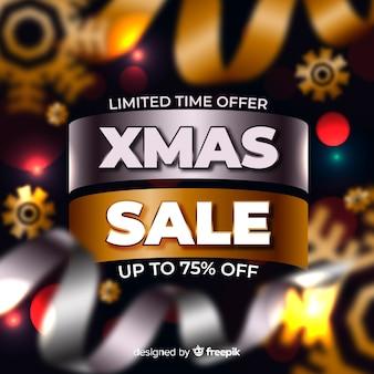 Cartel de compras navideñas