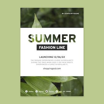 Cartel de compras online de moda.